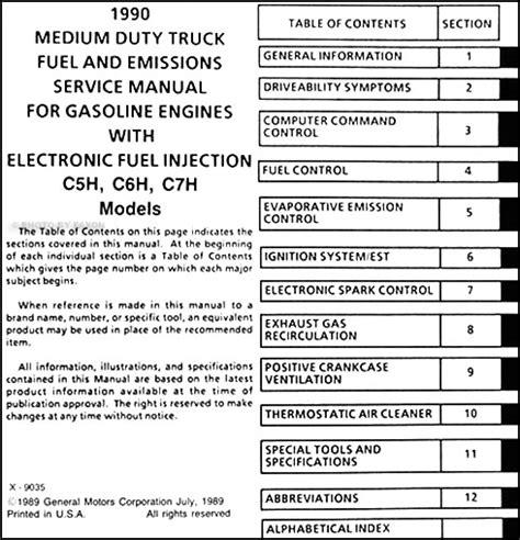 how to download repair manuals 1990 buick coachbuilder auto manual 1990 gmc topkick chevy kodiak gas fuel and emissions manual repair shop service ebay