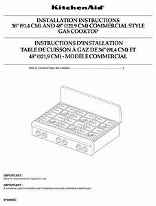 Kitchenaid Kgcp484kss Installation Instructions Manual Pdf