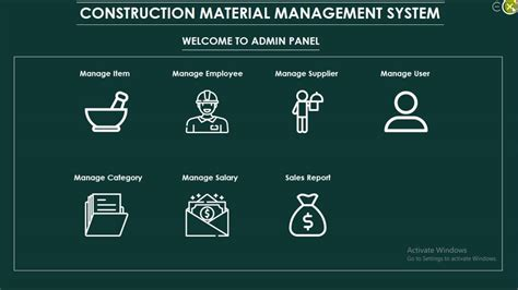 construction material management project  animated