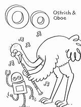 Coloring Ostrich Printable Alphabet Oboe Letter Animal Storybots Bestcoloringpagesforkids Sheets Words Sheet Abc Activity Getdrawings Library Clipart Bots sketch template