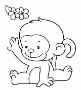 Monkey Coloring Pages Colouring Printable Toddler Cartoon Momjunction Colored Animal Monkeys Sheets Animals Clipart Simple Bright Clip Books Whole Draw sketch template