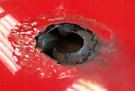 roof hole rusty fixing aerial metal drilling repaint painted always should why through mount repair