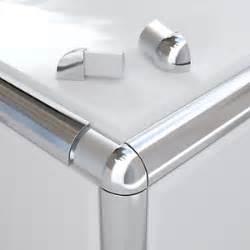 Tile Edge Trim by Vroma Round Quadrant Tile Trim Bright Brushed Silver