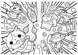 Coloring Pages Yo Kai Yokai Japanese Fan Charmed Youkai Colouring Japan Getcolorings Coloriage Dessin Imprimer Printable Sheets Getdrawings Dragon Template sketch template