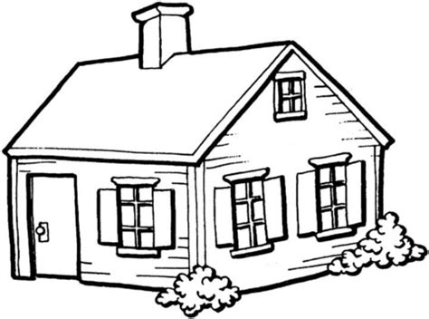 small house   village coloring page  printable