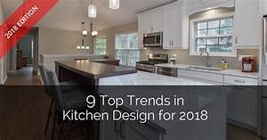 9 top trends in kitchen design for 2018 home remodeling With kitchen cabinet trends 2018 combined with large glass wall art