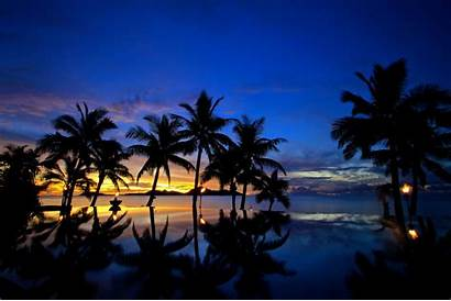 Fiji Sunset Wallpapers Sea Backgrounds Island Tropical