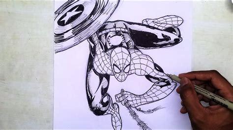 draw spiderman captain america civil war