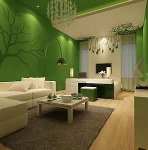 Wohnzimmer Ideen Grün : farben f r wohnzimmer 55 tolle ideen f r farbgestaltung ~ Lizthompson.info Haus und Dekorationen