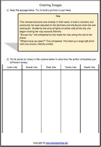 creating images worksheets strategy resources