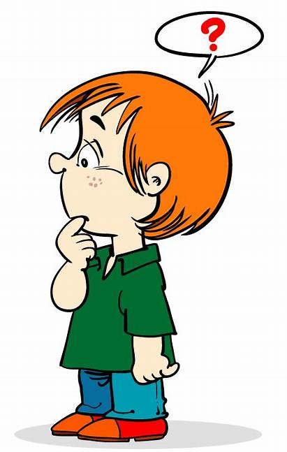 Thinking Student Asking Clipart Cartoon Questions Clip