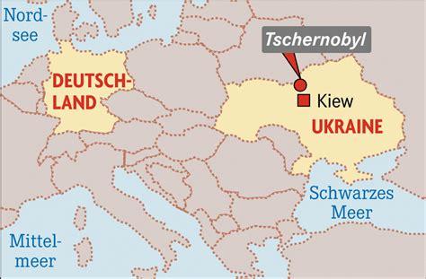 Ukraine Tschernobyl Karte