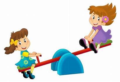 Cartoon Playground Children Saw Song Toy Happy