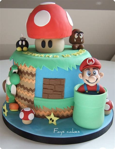 Awesome Super Mario World Birthday Cake Pics Global