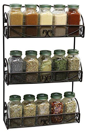 Spice Rack Reviews by Decobros 3 Tier Wall Mounted Spice Rack Bronze Buy