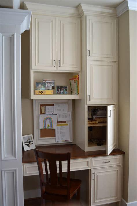 kitchen desk ideas marvelous computer desk with hutch in kitchen traditional with herringbone tile backsplash next