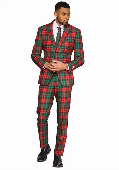 Suit Scottish Trendy Tartan Mens Opposuit Suits