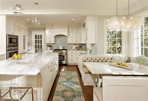 Modern booth seating kitchen traditional with breakfast