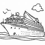 Ship Cruise Coloring Rich Netart sketch template