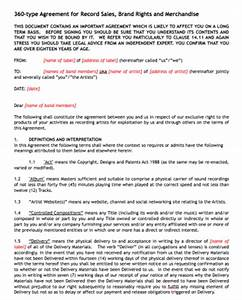Music business contract templates samples music law for Record label contracts templates