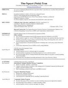 hr internship resume format hr resume