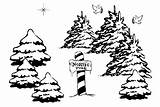 Coloring Pole Santa Letter North Printable Workshop Claus Hiding Trees Behind Welcome Holiday sketch template
