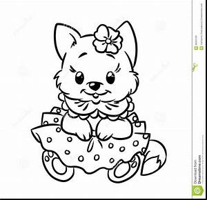 Kittens Clipart Coloring Page Pencil And In Color