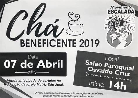 Movimento Escalada realiza Chá Beneficente neste domingo
