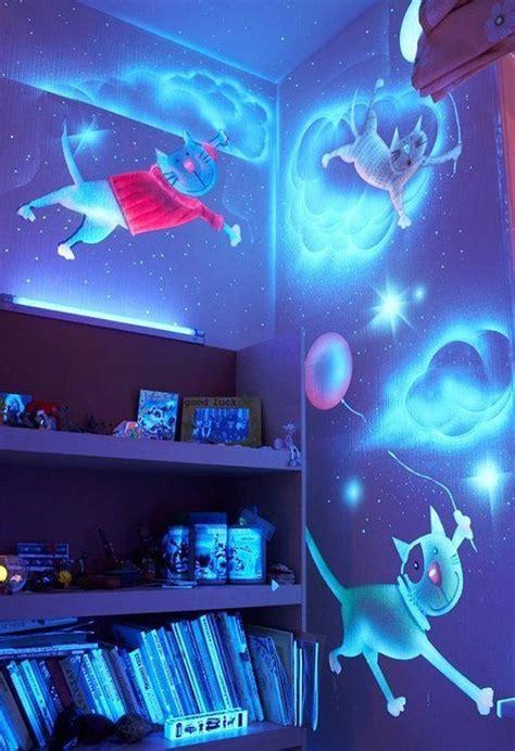 diy glow   dark paint wall murals