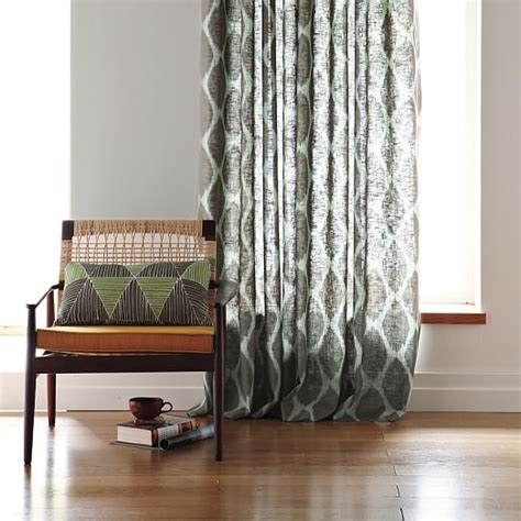 ikat ogee linen curtain west elm