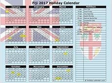 Fiji 2017 2018 Holiday Calendar