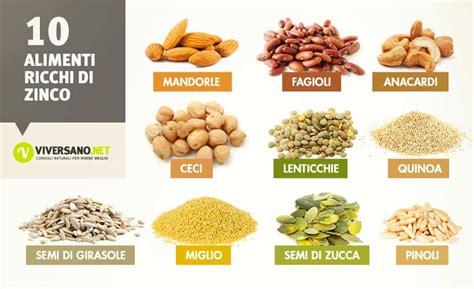 alimenti ricchi di ferro tabella alimenti ricchi di zinco quali sono ecco 10 alimenti con