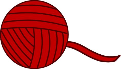Of Yarn Clip Burgandy Yarn Clip At Clker Vector Clip