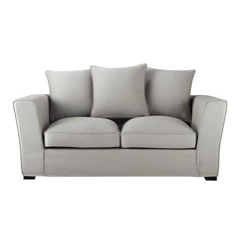 canapé 2 places en tissu canapé 2 3 places en tissu gris clair balthazar maisons