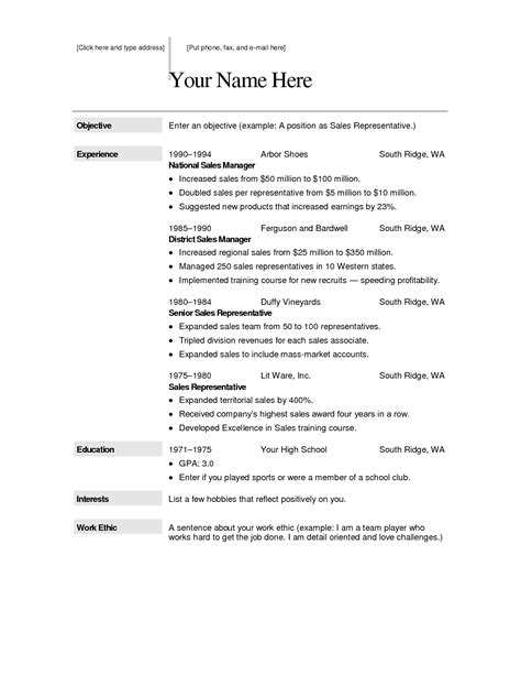 Resume Free by Free Downloadable Resume Templates