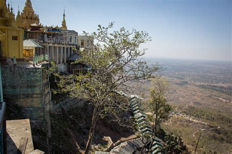Staircase National Park by Mount Popa Monastery Taung Kalat Myanmar