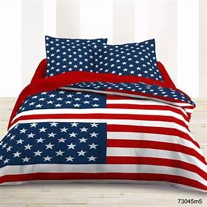 Housse couette drapeau americain for Tapis chambre enfant avec housse de couette usa 200x200