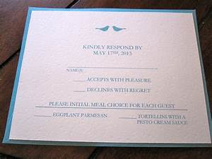 Event invitation wedding invitations reply cards card for Wedding invitation reply format