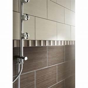 carrelage mural quottokioquot marron tous les produits With carrelage marron salle de bain