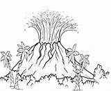 Volcano Drawing Eruption Coloring Volcanic Pages Explosion Getdrawings sketch template