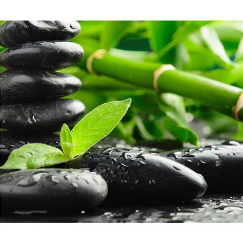 black zen stones photo wallpaper
