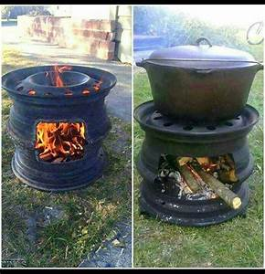 Ofen Aus Felgen : recycled tire rims used for campfire cooking and cast iron or dutch oven outdoor living ~ Watch28wear.com Haus und Dekorationen
