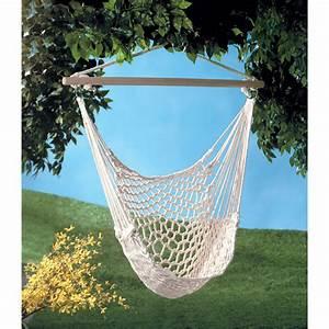 Hammock Chair Swing Hanging Indoor Outdoor Cotton Rope ...