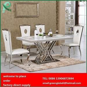stainless steel dining table and chairs dining room table With stainless steel dining table set