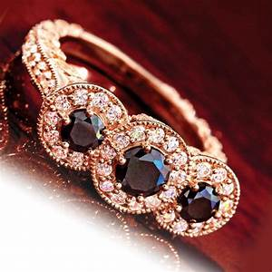house of brugesr rosella black diamond ring w5893 stauercom With stauer wedding rings