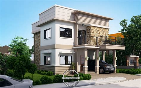 Post Modern House Plans by Juliet 2 Story House With Roof Deck Eplans