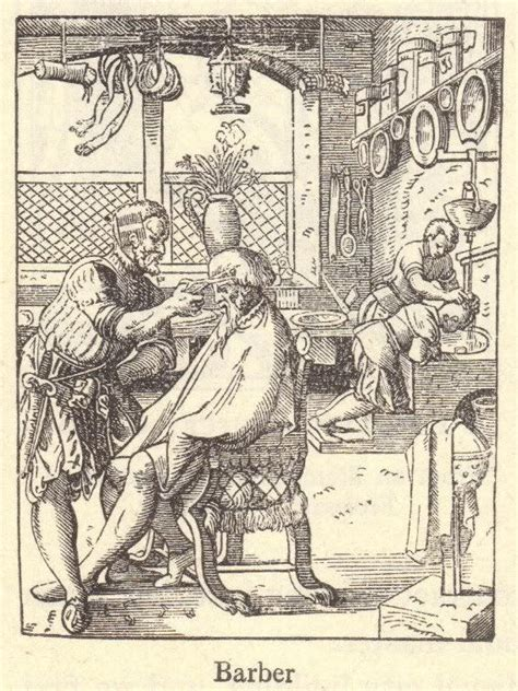 barber   middle ages pictures  illustrations