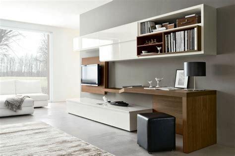bureau pour salon aménagement de bureau moderne dans un salon design
