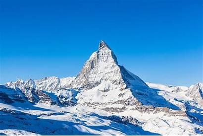 Matterhorn Highest Switzerland Mountains Winter Medientechnik Europe
