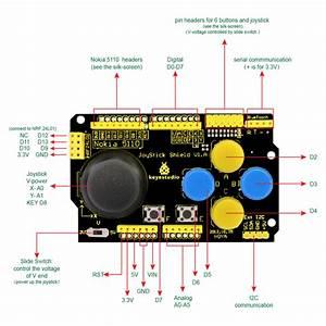 Ks0153 Keyestudio Joystick Shield